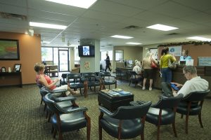 Waiting room of the New Albany location