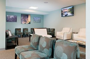 Waiting room of the Vision Center